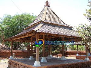 Rumah Gazebo Kayu Jati Joglo Tempat Persinggahan IJF-0116