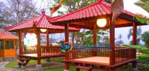 Harga Gazebo Kayu Kelapa Murah Untuk Rumah Makan IJF-0139