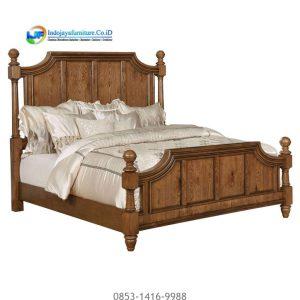 Tempat Tidur Jati Mewah Terbaru Jual Mebel Jepara IJF-0186, Model Tempat Tidur Jati Minimalis Klasik Bedroom