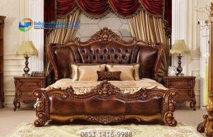 Tempat Tidur Klasik Terbaru Modern Mebel Kayu Jati Jepara IJF-0192